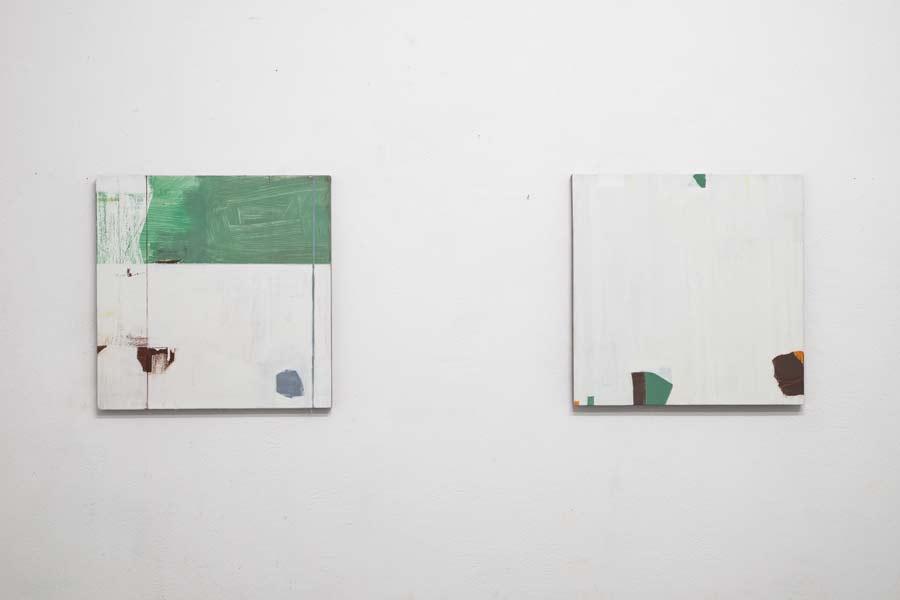 O.T. 45 x 45 cm Öl auf Leinwand 2016