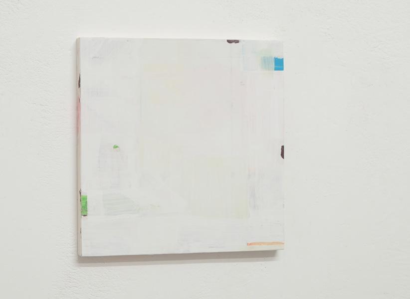 O.T. 24 x 24 cm Gesso und Gouache auf Holz 2017