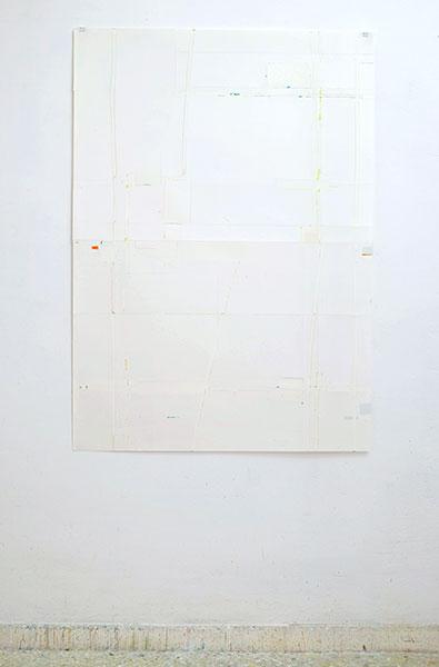 o.T., Wachskreide/Papier, 120x84 cm, 08.05.2018