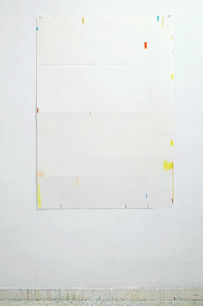 o.T., Wachskreide/Papier, 120x84 cm, 15.03.2018