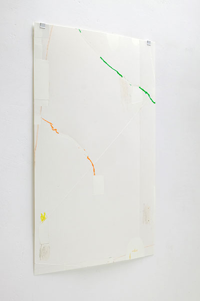 o.T., Wachskreide/Papier, 60x42 cm, 18.05.2018