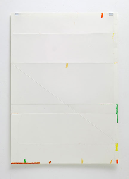 o.T., Wachskreide/Papier, 60x42 cm, 14.02.2018