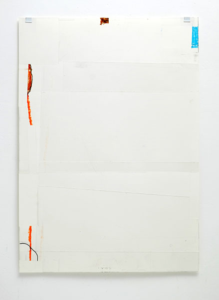 o.T., Wachskreide/Papier, 60x42 cm, 18.01.2018