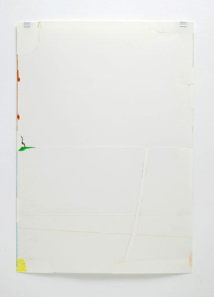o.T., Wachskreide/Papier, 60x42 cm, 13.05.2018
