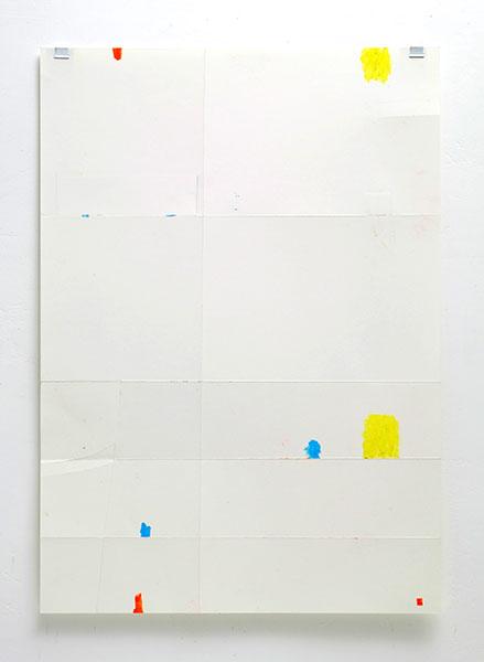 o.T., Wachskreide/Papier, 60x42 cm, 28.01.2018