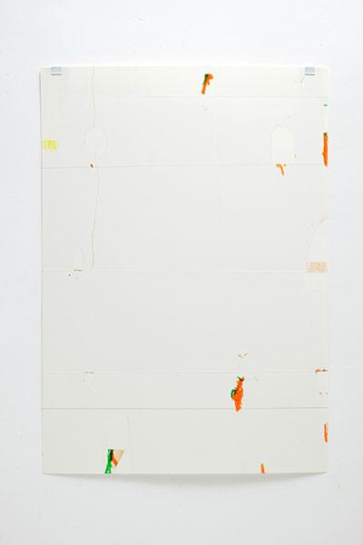 o.T., Wachskreide/Papier, 60x42 cm, 15.05.2018