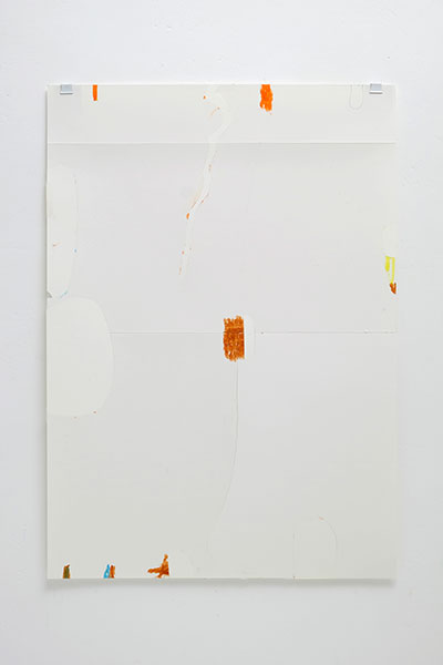 o.T., Wachskreide/Papier, 60x42 cm, 17.05.2018