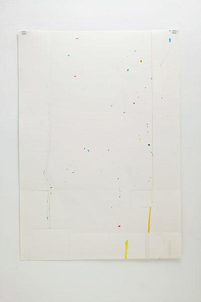 o.T., Wachskreide/Papier, 84x60 cm, 15.04.2018