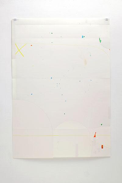 o.T., Wachskreide/Papier, 84x60 cm, 01.04.2018
