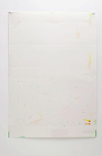 o.T., Wachskreide/Papier, 84x60 cm, 17.04.2018
