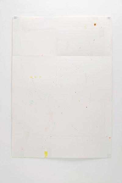 o.T., Wachskreide/Papier, 84x60 cm, 07.04.2018