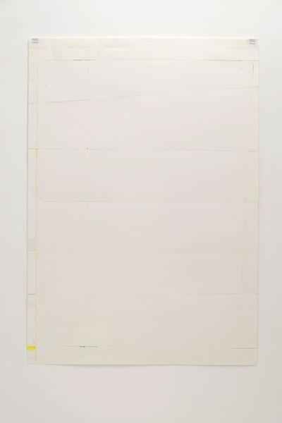 o.T., Wachskreide/Papier, 84x60 cm, 21.03.2018