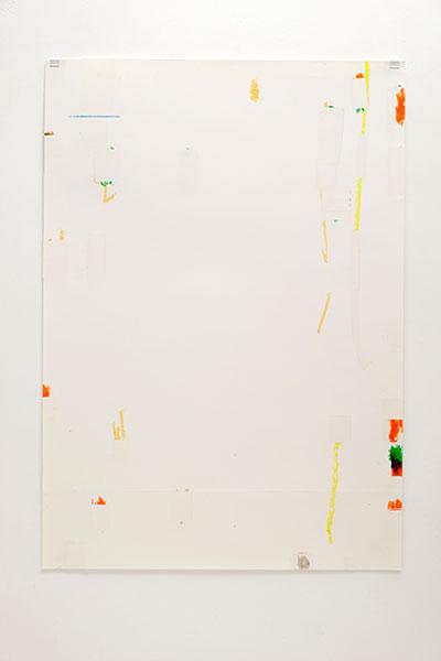o.T., Wachskreide/Papier, 84x60 cm, 18.02.2018