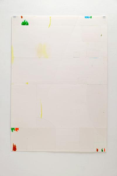 o.T., Wachskreide/Papier, 84x60 cm, 20.02.2018